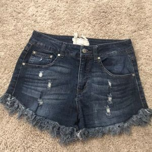 Altaird state fringe shorts